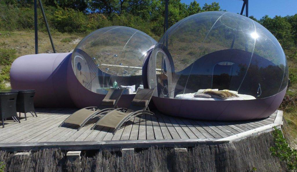hebergements insolites - bulles transparentes