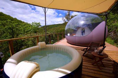 Cabanes et bulles